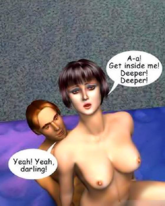 Сексуальные комиксы с развратной шлюхой