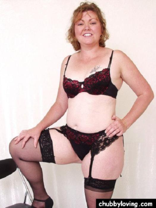 Мохнатая киска толстой женщины