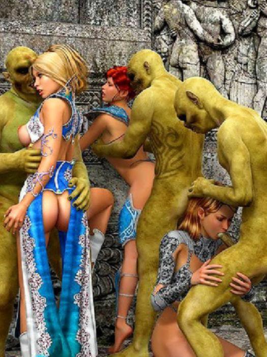 3D порно с милыми развратными лестбиянками