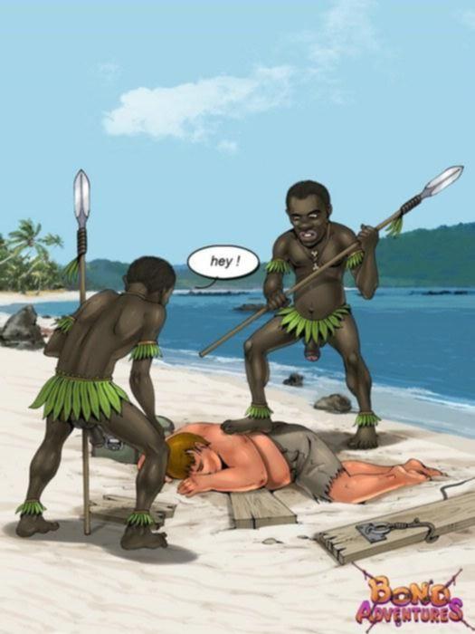 Комикс трахания королевы туземцев с белым мужиком