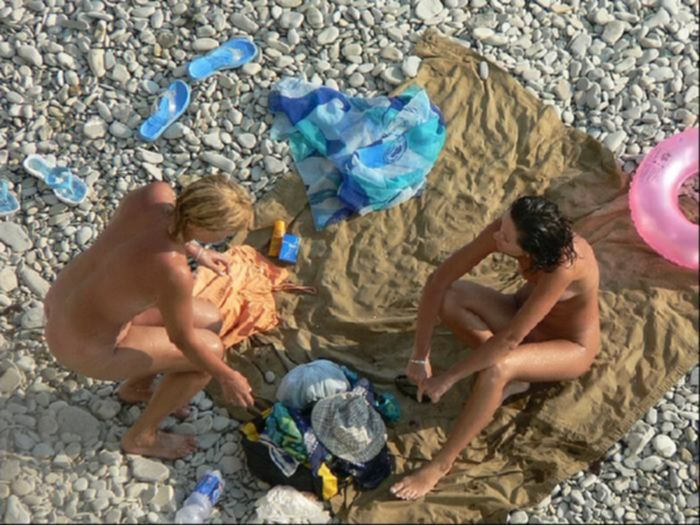 Скрытая камера на пляже