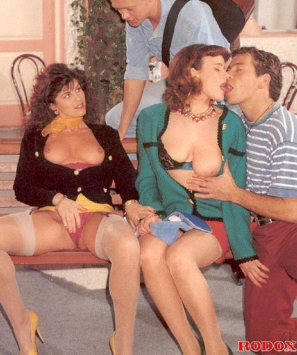 Отличный винтажный групповой секс